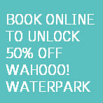 Book online and receive 50% off Wahooo Waterpark tickets