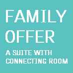 Book a suite with connecting room for the kids.