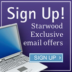 Sign up for exclusive Starwood email offers