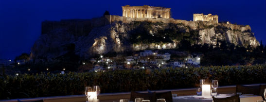 Acropolis view from Hotel Grande Bretagne Athens