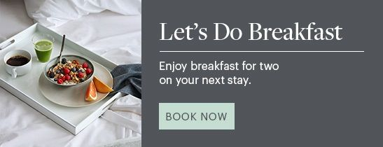 Complimentary breakfast for two with your stay