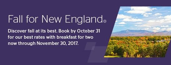 New England Fall Savings