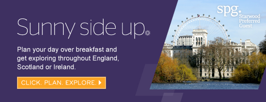 Plan your day over breakfast and get exploring throughout England, Scotland or Ireland.