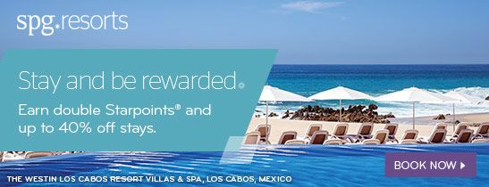 Double Starpoints and up to 40% off stays