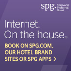 Internet. On the house.  Book on spg.com, our hotel brand sites or SPG apps