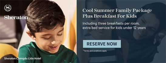 Chengdu, Go! Cool Summer Family Package plus complimentary breakfast for kids