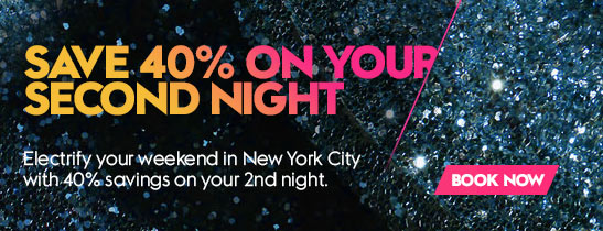 Save 40% on every second night
