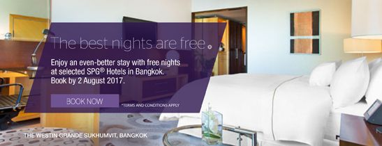Enjoy an even-better stay with free nights at The Westin Grande Sukhumvit, Bangkok. Booked by August 2, 2017.