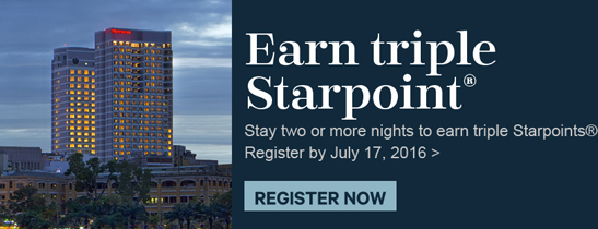Stay two or more nights to earn triple Starpoints®