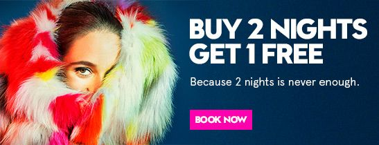 BUY 2, NIGHTS, GET 1 FREE