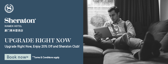 Upgrade Right Now and Enjoy Sheraton Club.