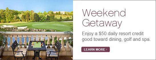 Weekend Getaway - $50 Daily Credit
