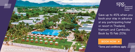 Book Early. Save big. at Sheraton Hua Hin Resort & Spa