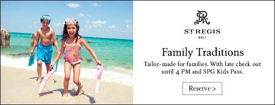 Family Traditions at The St. Regis Bali Resort