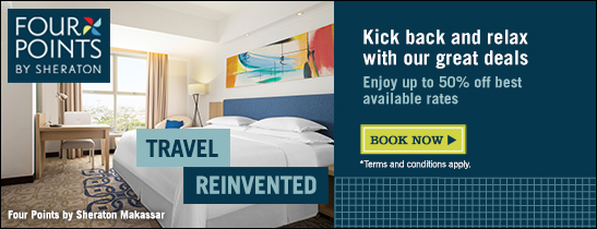 Half your stay is on us. Rates from 600++