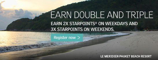 Double and triple your Starpoints.