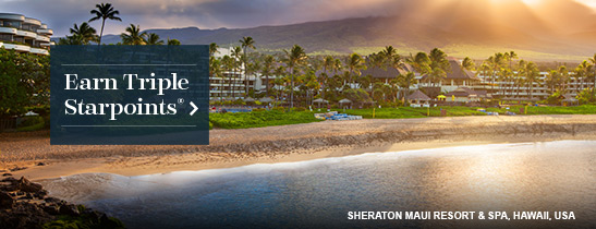 Register for SPG® Triple Up by July 17, 2016, to earn thousands of bonus Starpoints® on stays of two or more nights from May 9 through July 31, 2016.