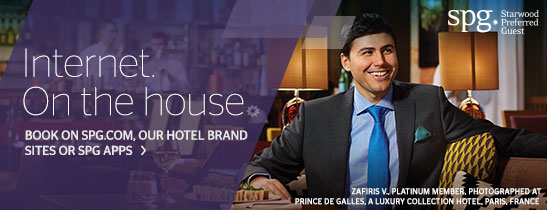 Get free Internet when you book on spg.com, our hotel brand sites or SPG Apps