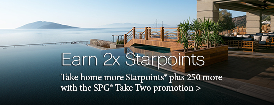 Earn 2X with SPG Take Two