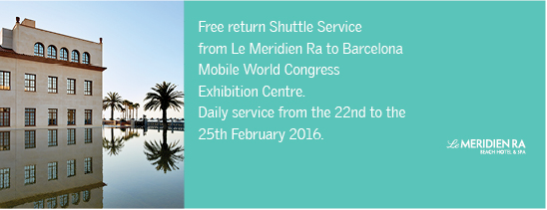 A Shuttle bus service will run from Le Méridien Ra - WMC Centre