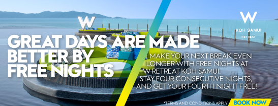 Stay four consecutive nights, and get your fourth night free!