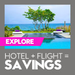 Hotel + Flight = Savings