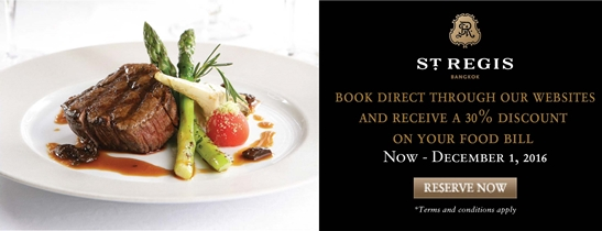 When booking direct through our websites from now - December 1, 2016, you will receive a 30% discount on your food bill (excluding Zuma) during your stay with us.