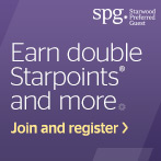 Register to earn double Starpoints® on stays of two or more nights at any Starwood hotel or resort. Plus, earn 250 Starpoints per night at hotels in popular destinations.