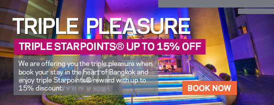 TRIPLE PLEASURE TRIPLE STARPOINTS® UP TO 15% OFF
