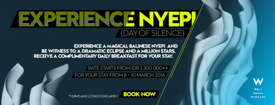 EXPERIENCE NYEPI (DAY OF SILENCE)