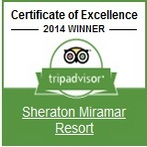 Sheraton Miramar Resort with a 2014 Certificate of Excellence.