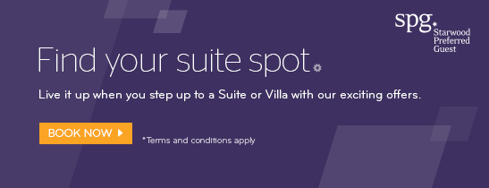 EARN 3,000 BONUS STARPOINTS® WHEN BOOK A SUITE