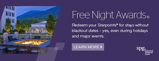 SPG Free Night Awards