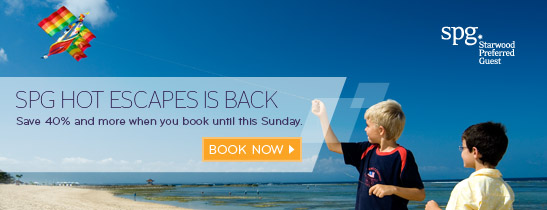 Save 40% and more if you book by Sunday