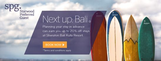 Advance Purchas - Sheraton Bali Kuta Resort