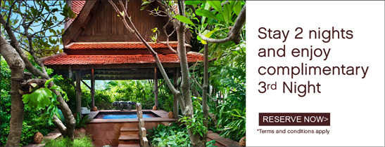 Stay 2 nights and enjoy complimentary 3rd Night