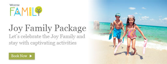 Joy Family Package, rate starts from RMB 782++ per night