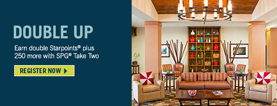 Earn 2X with SPG® Take Two.