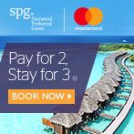 Pay for 2, Stay for 3 with your MasterCard®