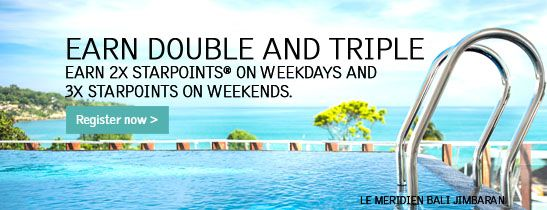 SPG More for You: Earn double and triple Starpoints.