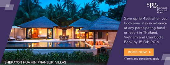 Book Early. Save big. at Sheraton Hua Hin Pranburi Villas