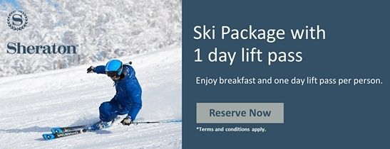 Ski package with one day lift pass