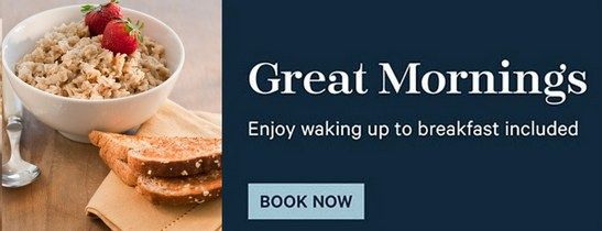 Book your next stay and breakfast is on us