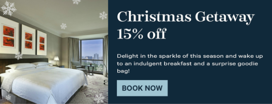 Welcome the jubilation of Christmas with the perfect getaway.