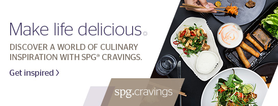 Enjoy 15% off dining at our venues for SPG members