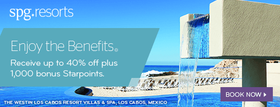 Up to 40% Savings plus 1,000 Starpoints