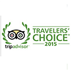 Trip Advisor Travelers Choice winner 2015
