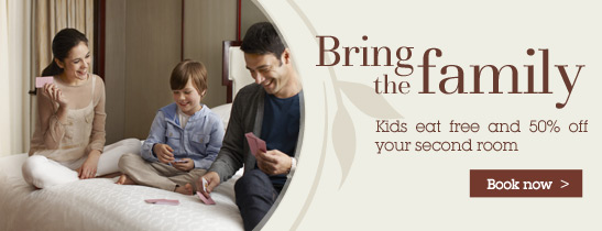 Enjoy a family holiday and get 50% off your second Room
