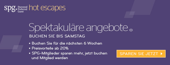 SPG HOT ESCAPES - Preisvorteile ab 20%