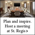 Luxury New York City Meeting Venues | The St. Regis New York